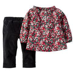 Floral Top Corduroy Pants
